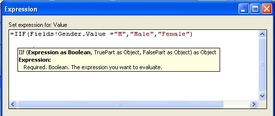 IIF Function :: SQL Server Reporting Services:: www venkateswarlu co in