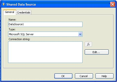 Adding Data Source :: SQL Server Reporting Services